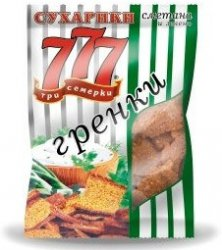 777 Гренки Сметана/зел 50 г*40