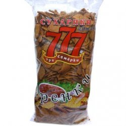 "777 ГРЕНКИ со вкусом аджики ""0,5 кг"""