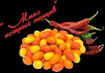 Арахис в глазури Chipka cо вкусом Микс острых перцев1 кг