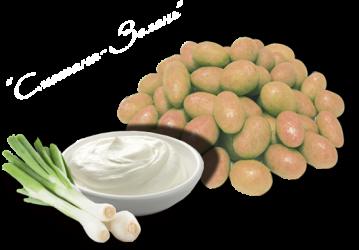 Арахис в глазури Chipka cо вкусом Сметана с зеленью 1 кг